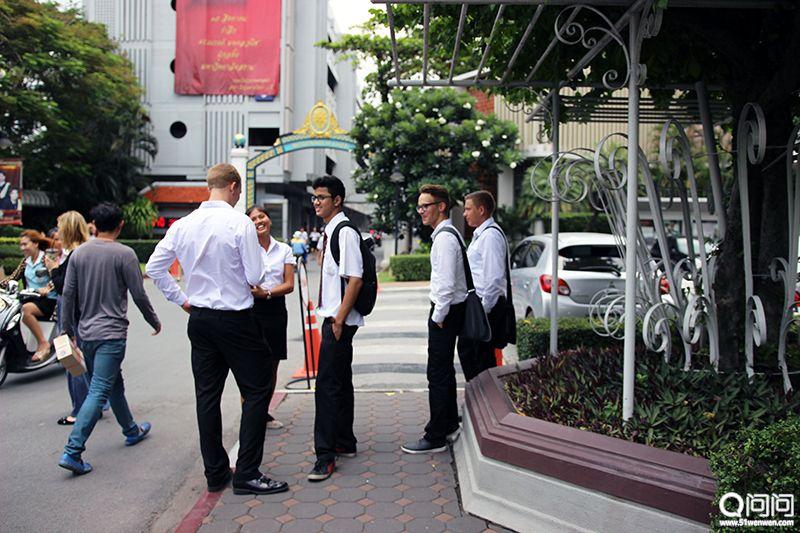 暹罗大学的国际学生