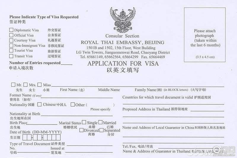 签证申请表