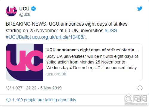 大学与大学联盟(UCU)推特信息